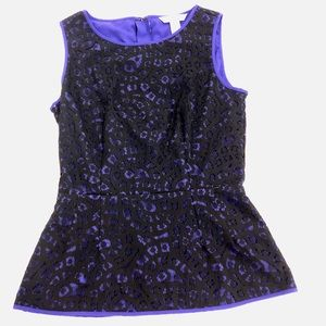 Banana Republic black and purple lace top (0)